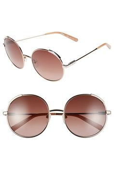 Chloé 'Nerine' 56mm Round Sunglasses available at #Nordstrom