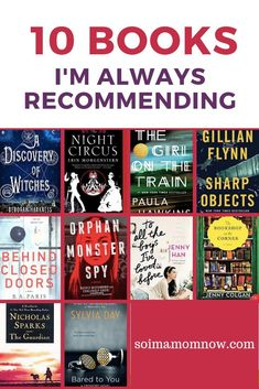 10 Books I Am Always Recommending - - I am always recommending books to people. It can be so hard to find good books out in this wide world of all things all the time. Here are 10 books I am ALWAYS recommending. Best Selling Books Must Read, Book List Must Read, Book Lists, Best Selling Fiction Books, Book Suggestions, Book Recommendations, I Love Books, My Books, Good Books To Read