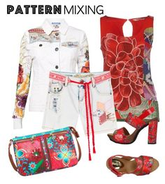 """""""Stay Bold: Pattern Mixing"""" by laurabosch on Polyvore featuring Desigual and patternmixing"""