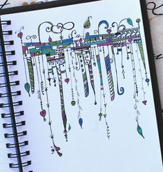 Art Journal - Zenspirations Dangle Adornments | by Pink Palindrome