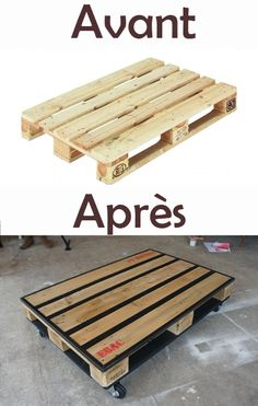 1000 ideas about table basse palette on pinterest - Grosses roulettes pour table basse ...