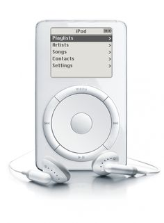 This was the original Ipod. The Ipod was revolutionary to the music industry as it was one of the first MP3 players which shifted how music is listened to.