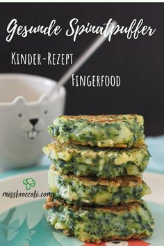 Fast spinach pancakes - finger food for children ⋆ Miss Broccol .- Fast spinach pancakes – finger food for children ⋆ Miss Broccoli - Lunch Recipes, Baby Food Recipes, Breakfast Recipes, Vegetarian Recipes, Healthy Recipes, Cake Recipes, Family Meals, Kids Meals, Easy Meals