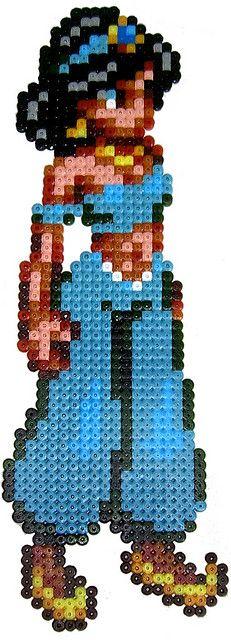 Jasmine / Hama perler beads  / Bügelperlen