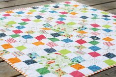 great idea for a simple scrap quilt