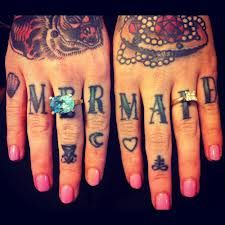 knuckle tattoos - Google Search