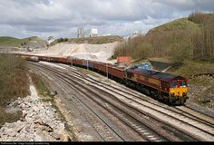 RailPictures.Net Photo: 66116 DB Schenker GM Class 66 at Peak Forest, Derbyshire, United Kingdom by Jonathan King