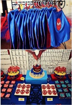 Caul wants a spider man party this year! Superhero Birthday Party, 4th Birthday Parties, Man Birthday, Birthday Ideas, Superhero Capes, Third Birthday, Spider Man Party, Party Printables, Diy Party Crafts