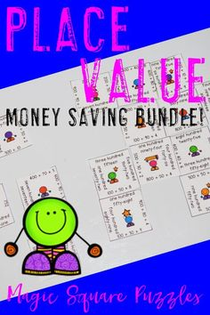 Are you looking for a money saving place value game to keep your 1st, 2nd, 3rd, and 4th grade students engaged? Look no further! These puzzles are great for enrichment, review, test prep, early and fast finishers, GATE, math centers, and more! Click through for 36 differentiated puzzles at one great price! $