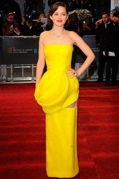Marion Cotillard (Dior HC). Premios BAFTA 2013.