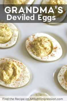 My grandma made the best deviled eggs in the world! We had them at every family gathering. Her secret ingredient was relish juice! This easy recipe is perfect for any party! Deviled Eggs With Relish, Perfect Deviled Eggs, Healthy Deviled Eggs, Easter Deviled Eggs, Devilled Eggs Recipe Best, Avocado Deviled Eggs, Bacon Deviled Eggs, Best Ever Deviled Eggs Recipe, Recipes