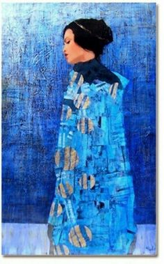 by artist Richard Burlet was born in France in He is influenced by Austrian symbolist painter Gustav Klimt and Art Nouveau. Figure Painting, Painting & Drawing, Richard Burlet, Klimt Art, Illustration Art, Illustrations, Blue Art, Portrait Art, Figurative Art