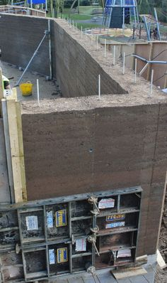 Rammed earth Eco centre in Londons Holland Park, 50 tonnes of wall to look at