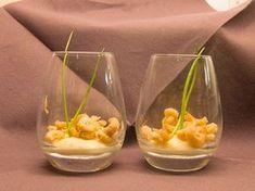 Zacht mousse van bloemkool met Hollandse garnaaltjes een simpele en makkelijke amuse