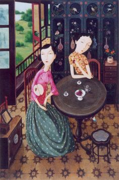 Shuai-Mei-Contemporary-Chinese-Artist-Chinese-Women-in-Painting