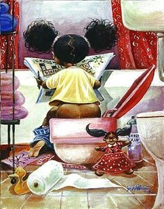 Crossword Puzzle by Frank Morrison (African American Bathroom Art) African American Artwork, African Art, Caricatures, Frank Morrison Art, Natural Hair Art, By Any Means Necessary, Black Love Art, Art Africain, Black Artwork