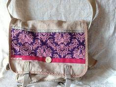 Sac en lin vintage Armée Française customisé de la boutique Pizouboutik sur Etsy