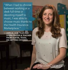 Getting In Tune For My Future: My #GetCovered Story (By Amelia Ciskey): http://www.hhs.gov/healthcare/facts/blog/2014/03/amelias-enrollment-story.html