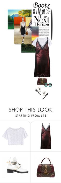 """""""The next horizon"""" by no-where-girl ❤ liked on Polyvore featuring House of Holland, Balenciaga, Louis Vuitton, Gucci and summerbooties"""