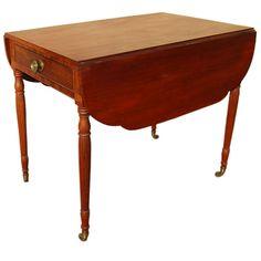 1stdibs | New York Drop-Leaf Pembroke Table, c. 1820