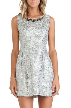 Silver party dress - only $72!