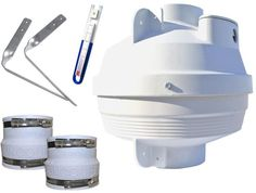 Radon Mitigation Fan Kit 4 In. Fan With Couplers And Air Pressure Indicator #Suncourt