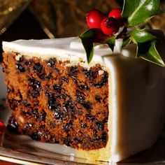 Marzipan Frosted Christmas Cake Recipe from Grandmother's Kitchen