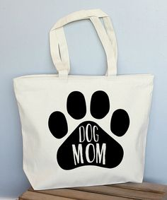 Look at this Large 'Dog Mom' Tote on #zulily today!