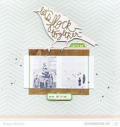 'Let's Flock Together' Layout by Robyn Werlich using the July Kits at @Studio Calico