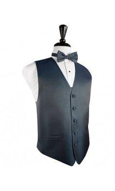 Haze Blue Herringbone Tuxedo Vest
