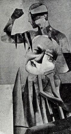 """HANNAH HOCH   THE STRONG GUYS   1919   """"The Strong Guys"""" by Hannah Höch. 1919 begann sie sich intensiv mit der Fotomontage, die in der Experimentierwerkstatt Dadas ihren Ursprung hat, auseinander zu setzen."""