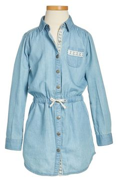 Tucker + Tate Tucker + Tate Denim Shirtdress (Toddler Girls, Little Girls & Big Girls) available at #Nordstrom