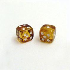 "Honey Amber Dice - 7/16"" (1.2cm)"