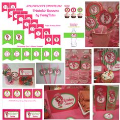 strawberry shortcacke birthday party | Strawberry Shortcake Printable birthday party Personalized Collection ...