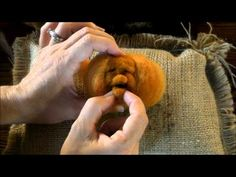 ▶ Needle Felted Pumpkin Tutorial 3: Finishing Details by Sarafina Fiber Art - YouTube love this pumpkin-faces tutorial!!!!!