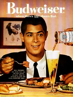 Budweiser Beer Advertisement - Ebony Magazine, April, 1960…   Flickr - Photo Sharing!