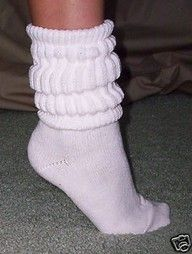 Scrunchy socks - I still scrunch mine when I wear boots with jeans.