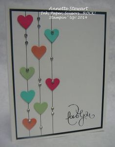 hearts and bling CAS card - bjl