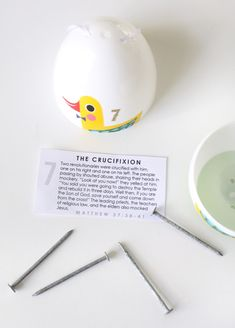 Resurrection eggs ideas and printable