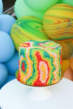 """Shag Cake from a """"TWO Groovy"""" 2nd Birthday Party on Kara's Party Ideas 