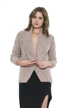 Womens Long Sleeve Nude Lara Pullover Sweater By One Grey Day Pullover Sweaters, Wool Blend, Snug, Knitting, Grey, Long Sleeve, Fall 2015, Stuff To Buy, Knits