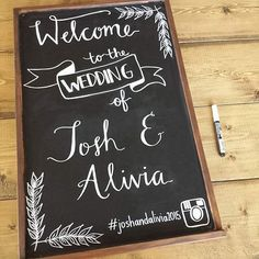 awesome vancouver wedding I can't wait to see this wedding sign displayed at Josh and Alivia's wedding which is happening in just a few weeks! #vancouverweddings #rusticwedding #weddingdecor #weddingchalkboard #weddingcalligraphy #moderncalligraphy #weddinginspiration #vancouverbride #handlettering #welcome #welcomesign by @handletteredlovebybev  #vancouverwedding #vancouverweddingdecor #vancouverwedding