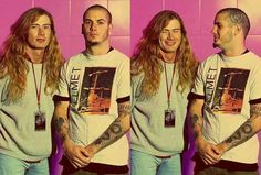 Dave Mustaine and Philip Anselmo