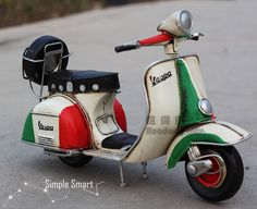 1/12 Miniature Retro Style 1955 Vespa Motorcycle by SimpleSmart                                                                                                                                                                                 More