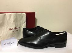 Salvatore Ferragamo Nove Oxford Nero Black Men's Lace Up Dressy Shoes 12 EE / W Dressy Shoes, Mens Designer Shoes, Salvatore Ferragamo, Black Men, Oxford, Lace Up, Best Deals, Ebay, Style