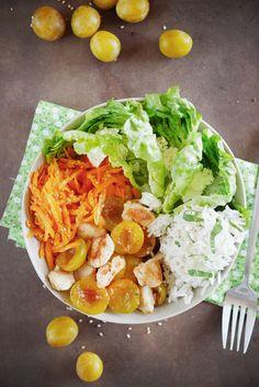 Salade de poulet aux mirabelles