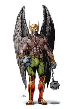 Several incarnations of HAWKMAN have appeared in DC Comics, all of them characterized by the use of archaic weaponry and by large, artificial wings, attached to a harness made from the special Nth metal that allows flight. Most incarnations of Hawkman work closely with a partner/romantic interest named Hawkgirl or Hawkwoman.
