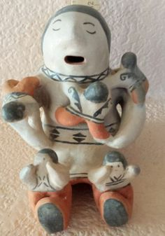 Native American Pottery Cochiti Pueblo Pottery Storyteller by Rita Lewis RARE | eBay