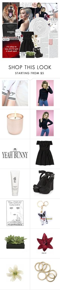 """""""♔ // stare me down across the table // ♔ // YEAHBUNNY"""" by the-forgotten-wolf ❤ liked on Polyvore featuring Chanel, Jonathan Adler, Yeah Bunny, Abercrombie & Fitch, H2O+, Gatsby, Lux-Art Silks, Clips, YeahBunny and tbotcs"""
