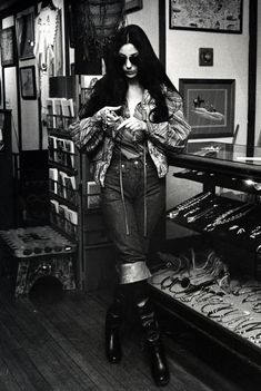 Cher au magasin Red Balloon à Georgetown en 1977